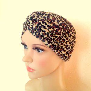 HOOFDDOEK Bruin Leopard