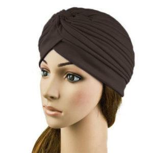 Hoofddoek Cap turban, Donker bruin