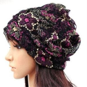 Head cap flower purple