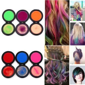 Haarkleur poeder dozen, 6-Kleuren 19gram