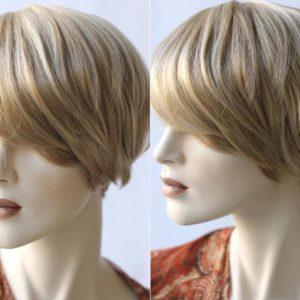 PRUIK kort blond >>SOLDEN<< 29 eur! (PK-279-01)
