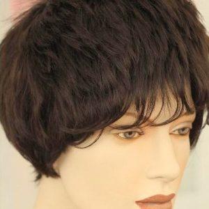 PRUIK wig kort zwart (PK-97-06)