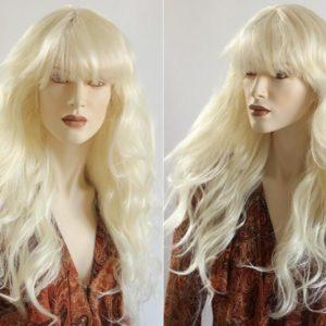 Pruik Blond Lang golvend (PL-600-14)