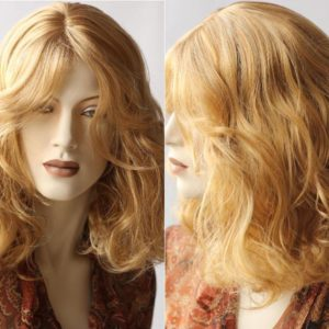 Pruik, Golvend donker blond (PM-026-08)