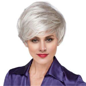 Pruik Grijs, Kort (PK-SS130 silver grey wig)