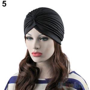 Turban cap black zwart