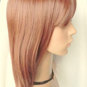 Pruik 40cm Halflang Licht rood/licht bruin (D93)