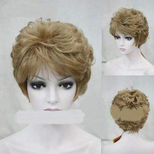 PRUIK kort donker blond (PK-LRaflo-14)