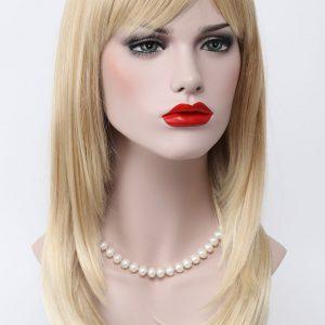 PL-L.Fanlan-24bt613 Donker Blond lange pruik
