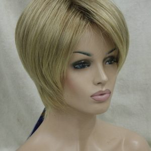 Pruik PK-5969-AB602, Kort donker blond Trendy stijl