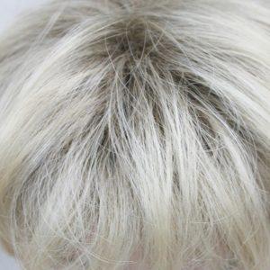 PRUIK Half lang donker blond met donkere uitgroei