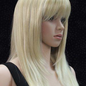Pruik, lang Blond met zeer lichte schakeringen, (L.Fanlan-24bt613)