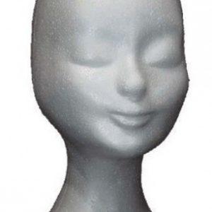 Pruiken hoofd styrofoam