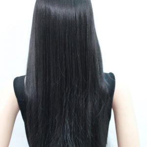 Pruik zwart Lang krullend 75cm, L-678-2