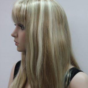 Pruik Stijl Lang, blond mixed multi kleuren, (L-678-15TT613)