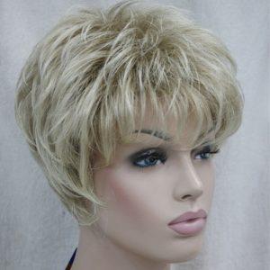 PRUIK Kort donker blond mixed kleuren (4066-15BT613)