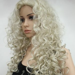 Pruik Blonde weelderige krullen E-9369-AB102