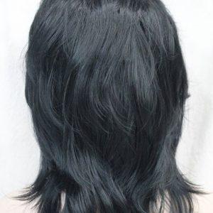 PRUIK Half Lang vol kapsel, kleur zwart, (E-3009A-1)
