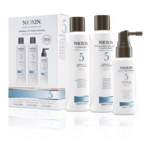 Nioxin 5, behandeling voor afnemende haar dichtheid – (voor normaal tot geringe dichtheid chem behandeld)