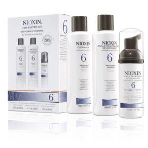 Nioxin 6, behandeling voor afnemende haar dichtheid – (voor normaal haar chemisch behandeld)