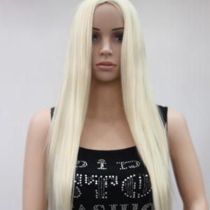 Pruik Lang, stijl, bruin 75 a 80 cm Hoog blond (4118-613)