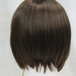 Pruik zwart kort, kastanje bruin kapsel, (E-9418-4T30)