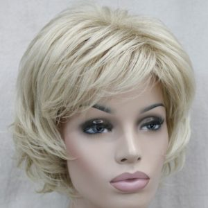 PRUIK Kort donker blond wild (E-9777-24bt613)