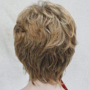 PRUIK kort, meshed mixed kleuren donker blond/Licht rood (5306-28T-130)