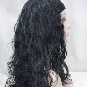 Puik met hoofdband, zwart krullend met E-1367-1