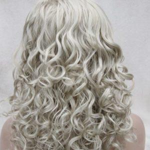 PRUIK met haarband Mixed kleur pruik lang krullend. (T6-AB102)