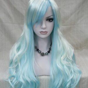 Pruik – Show model cosplay Blond/blauw