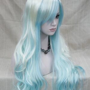 Pruik – Show model cosplay Blond/blauw