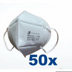 50 stuks FFP2 (KN95) Mondmasker pakket, CE gekeurd certificaat