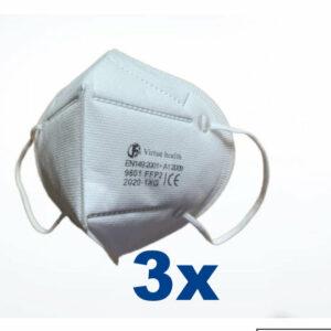 3 stuks FFP2 (KN95) Mondmasker pakket,  CE gekeurd certificaat