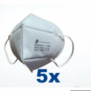 5 stuks FFP2 (KN95) Mondmasker pakket,  CE gekeurd certificaat