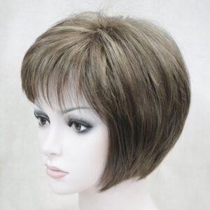Pruik Kort Trendy mix kleuren donker tinten met donker blond