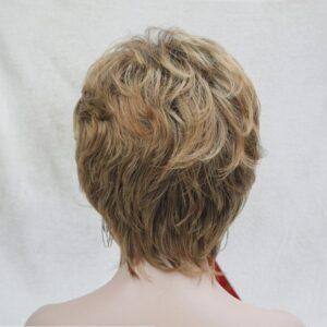 PRUIK kort, mix kleuren donker blond/Licht rood/bruin