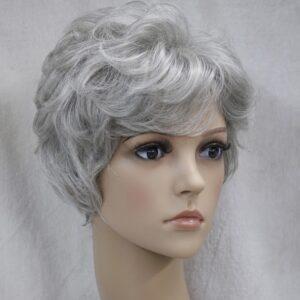 Pruik Kort, licht krullend, as blond (L3041-51)
