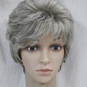 Pruik Kort, grijs/blond (L1651-48T)