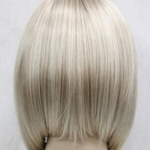 Pruik, Half lang, stijl BOB, donker blond. (E-9606-15BT613)