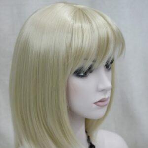 Pruik, Half lang, stijl, blond. (L345-613)