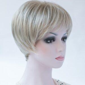 Pruik Kort Trendy mixed kleur Licht&donker blond