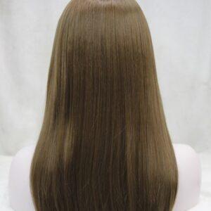 Pruik met rekbare hoofdband, lang 45a50cm, licht bruin (E-679B-12)