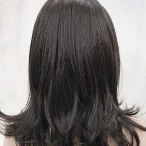 Pruik met hoofdband, Bruin +-45cm lang, met lichte golfslag (Monaca-4)