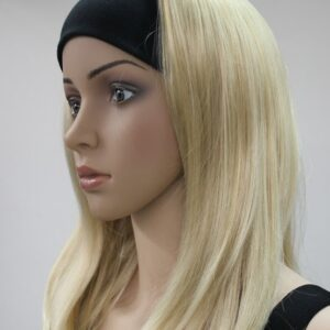 Pruik met hoofdband/haarband, lang, Blond