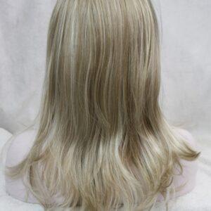 Pruik met hoofdband/haarband, lang, mixed kleuren donker met licht blond
