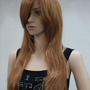 Pruik lang (60a70cm) hoog blond ros.(6224-27c)